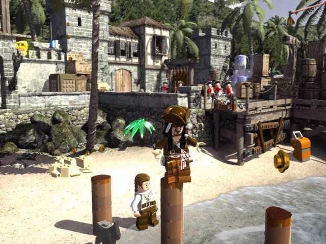 Скриншот из игры ЛЕГО Пираты Карибского моря 2011